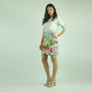 Abito bianco fantasia floreale FRACOMINA abbigliamento firmato donna accessori firmati emilia romagna ingrosso vendita abbigliamento stock grossisti stocchisti
