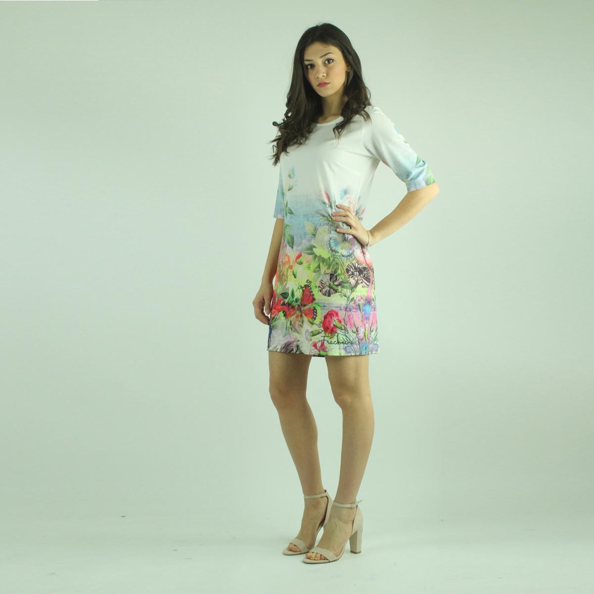 9b04fb53a16a Abito bianco fantasia floreale FRACOMINA abbigliamento firmato donna  accessori firmati emilia romagna ingrosso vendita abbigliamento stock