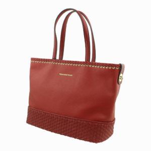 Borsa shopping colore rosso TRUSSARDI JEANS abbigliamento firmato donna accessori firmati emilia romagna ingrosso vendita abbigliamento stock grossisti stocchisti