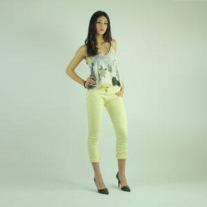 Pantaloni colore giallo PLEASE abbigliamento firmato donna accessori firmati emilia romagna ingrosso vendita abbigliamento stock grossisti stocchisti