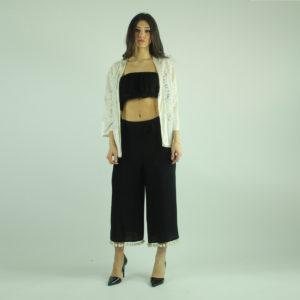 Pantaloni neri a palazzo VICOLO abbigliamento firmato donna accessori firmati emilia romagna ingrosso vendita abbigliamento stock grossisti stocchisti