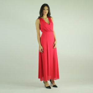 Abito lungo colore pesca IMPERIAL abbigliamento firmato donna accessori firmati emilia romagna ingrosso vendita abbigliamento stock grossisti stocchisti