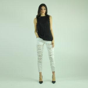 Jeans con strappi e pizzo GUESS abbigliamento firmato donna accessori firmati emilia romagna ingrosso vendita abbigliamento stock grossisti stocchisti