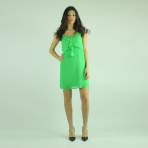 Abito verde con strass FRACOMINA abbigliamento firmato donna accessori firmati emilia romagna ingrosso vendita abbigliamento stock grossisti stocchisti