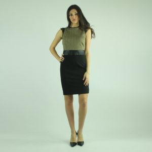 Abito nero con lurex FRACOMINA abbigliamento firmato donna accessori firmati emilia romagna ingrosso vendita abbigliamento stock grossisti stocchisti