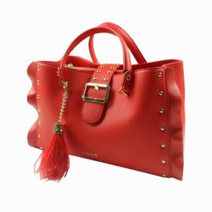 Borsa rossa con borchie LIU-JO abbigliamento firmato donna accessori firmati emilia romagna ingrosso vendita abbigliamento stock grossisti stocchisti