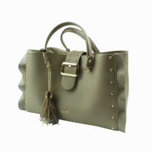 Borsa beige con borchie LIU-JO abbigliamento firmato donna accessori firmati emilia romagna ingrosso vendita abbigliamento stock grossisti stocchisti