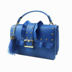 Pochette blu con borchie LIU-JO abbigliamento firmato donna accessori firmati emilia romagna ingrosso vendita abbigliamento stock grossisti stocchisti