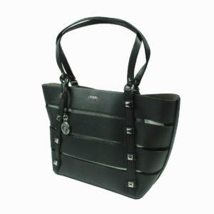 Borsa shopping nera con borchie GUESS abbigliamento firmato donna accessori firmati emilia romagna ingrosso vendita abbigliamento stock grossisti stocchisti