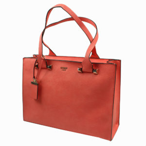 Borsa shopping colore pesca GUESS abbigliamento firmato donna accessori firmati emilia romagna ingrosso vendita abbigliamento stock grossisti stocchisti