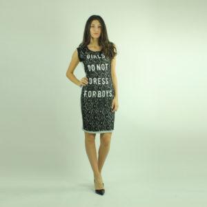 Abito con pizzo e scritta FRACOMINA abbigliamento firmato donna accessori firmati Emilia Romagna ingrosso vendita abbigliamento stock grossisti stocchisti