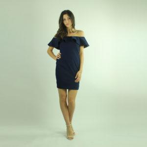 Abito denim con volant GUESS abbigliamento firmato donna accessori firmati Emilia Romagna ingrosso vendita abbigliamento stock grossisti stocchisti