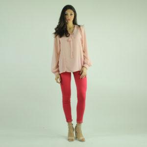 Camicia rosa con fiocco GUESS abbigliamento firmato donna accessori firmati Emilia Romagna ingrosso vendita abbigliamento stock grossisti stocchisti