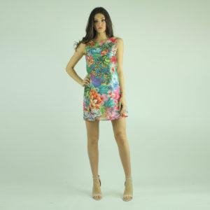 Abito corto a fantasia floreale FRACOMINA abbigliamento firmato donna accessori firmati Emilia Romagna ingrosso vendita abbigliamento stock grossisti stocchisti
