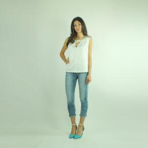 Jeans effetto squamato PLEASE abbigliamento firmato donna accessori firmati Emilia Romagna ingrosso vendita abbigliamento stock grossisti stocchisti