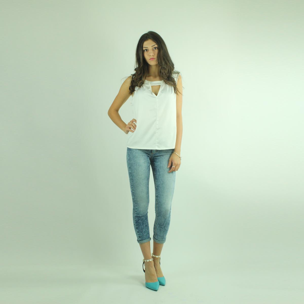 Jeans effetto squamato PLEASE collezione primaveraestate