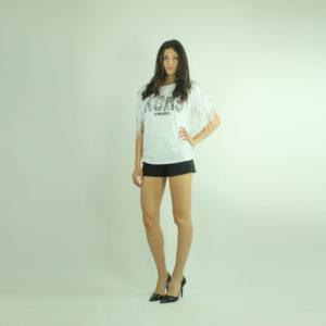 T-shirt con frange ALMAGORES abbigliamento firmato donna accessori firmati Emilia Romagna ingrosso vendita abbigliamento stock grossisti stocchisti